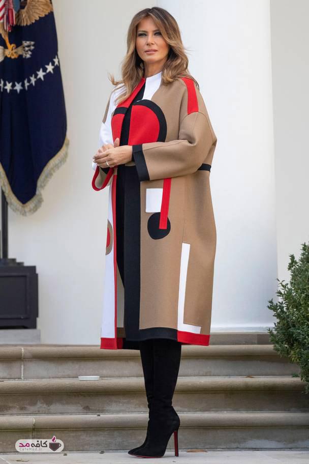 تیپ لاکچری ملانیا ترامپ در جشن شکرگزاری