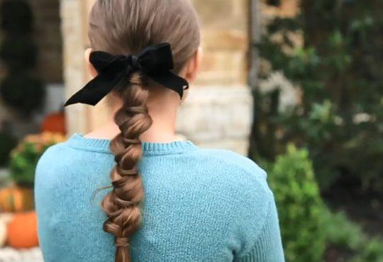 فیلم آموزش بافت دم اسبی دخترانه زیبا