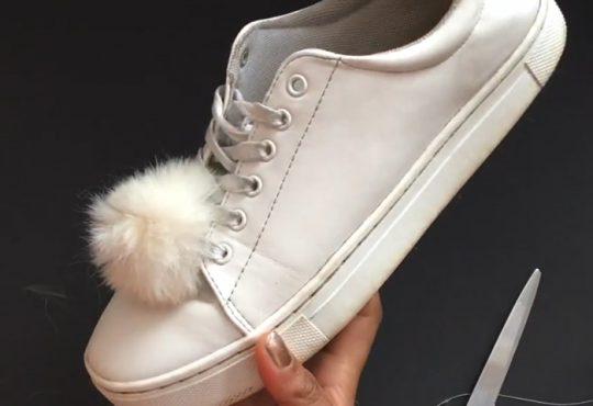 فیلم آموزش تزیین کفش با پم پم