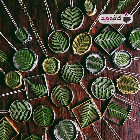 مدل زیورآلات با گیاه طبیعی