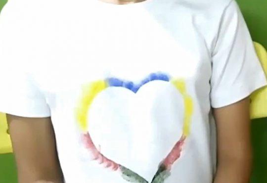 فیلم آموزش طرح قلب نقاشی روی تیشرت دخترانه