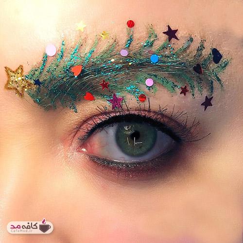 ابروهای کریسمسی مد جدید سال 2019