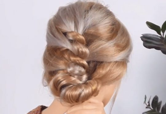 فیلم آموزش بافت مو از پشت برای موی بلند