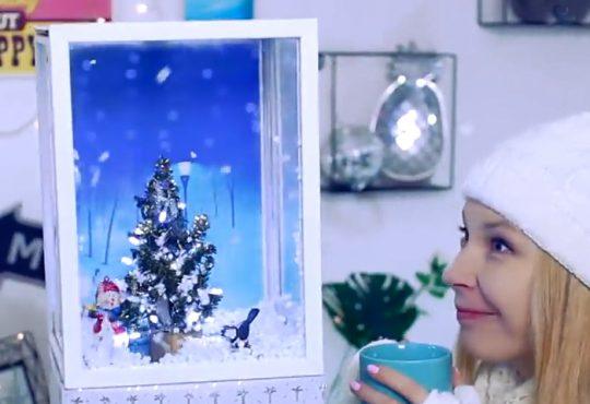 فیلم ساخت دکوری برفی کریسمسی