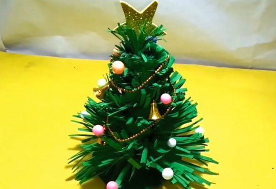 فیلم آموزش ساخت درخت کریسمس کاغذی