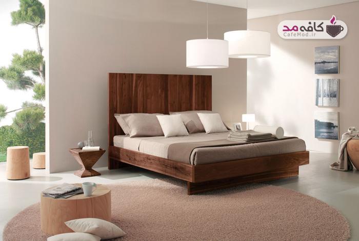 فرش و قالیچه های گرد در دکوراسیون اتاق خواب