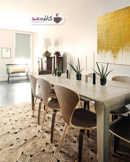 مدل دکوراسیون اتاق غذاخوری لوکس