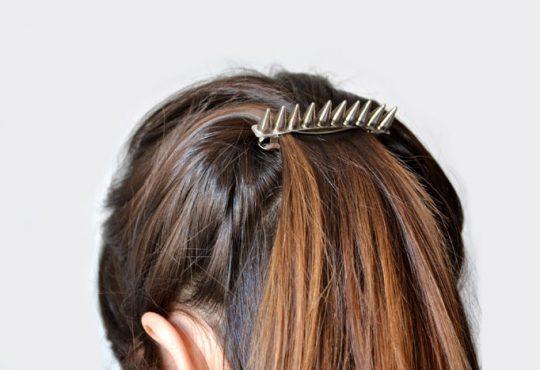 ایده برای تزئین گیره مو