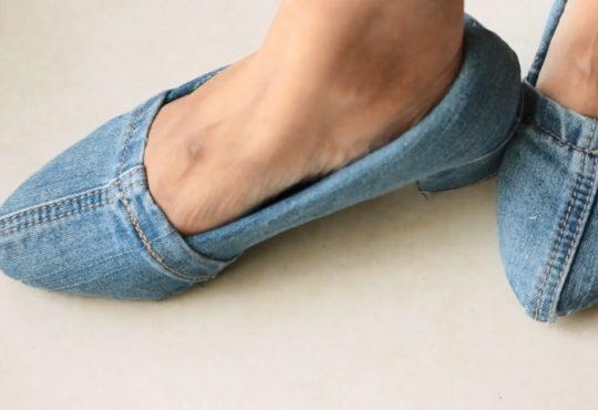 فیلم آموزش تغییر کفش با پارچه جین