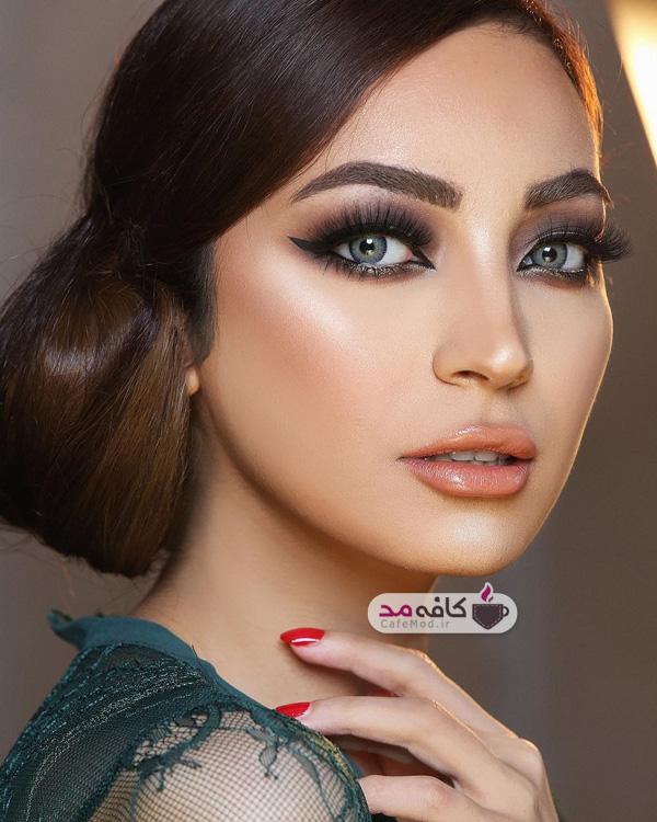 مدل آرایش با رنگ های جذاب
