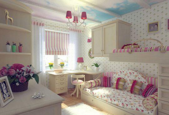 اتاق مطالعه دخترانه