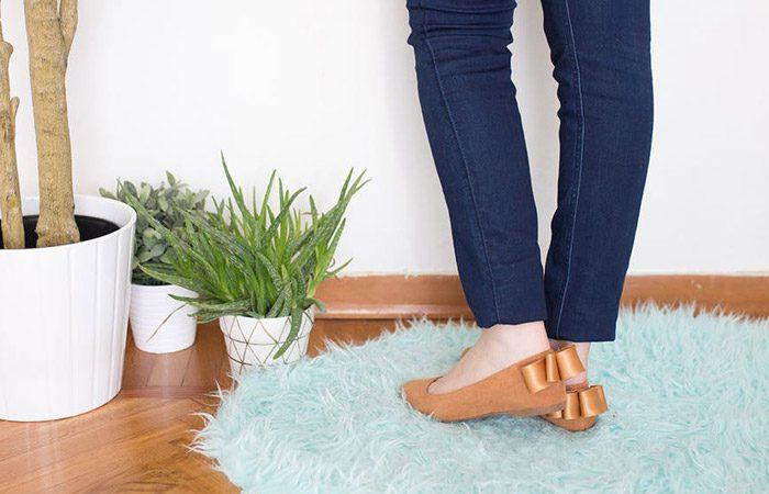 تزئین کفش بابت ساده