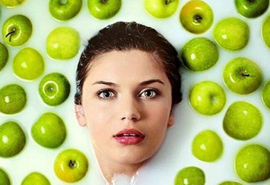 زیبایی پوست با سیب