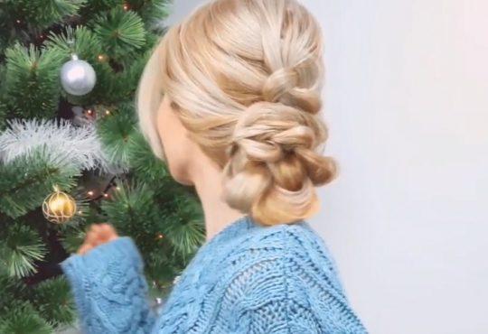 فیلم آموزش بافت موی زیبای مجلسی
