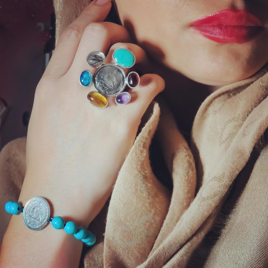 مدل هایی از زیورآلات دستساز ایرانی