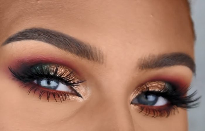 فیلم آموزش آرایش چشم مسی و سبز