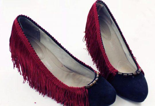 آموزش تغییر ظاهر کفش با نوار حاشیه