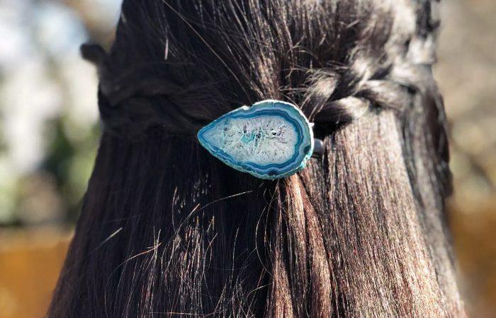 آموزش درست کردن گیره مو با سنگ تزیینی