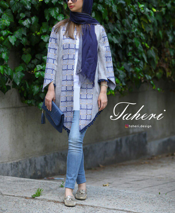 مدل مانتو بهاره برند ایرانی