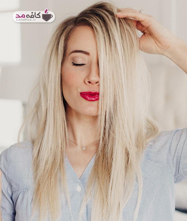 صاف کردن مو بدون اتو