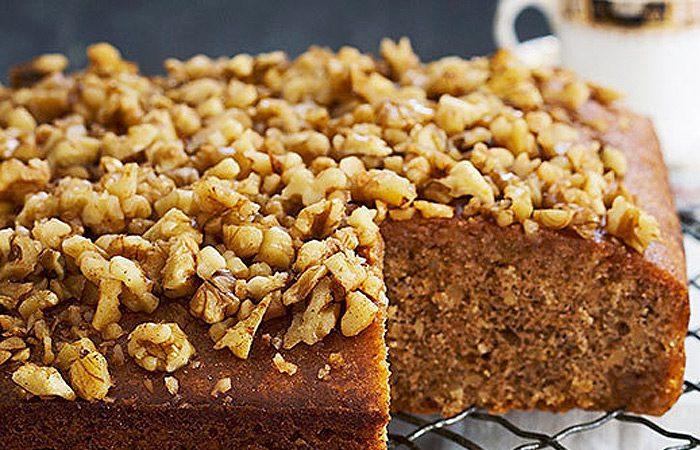 طرز تهیه کیک گردویی بدون فر