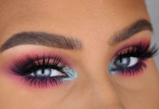 فیلم آموزش آرایش چشم ترکیبی از رنگها