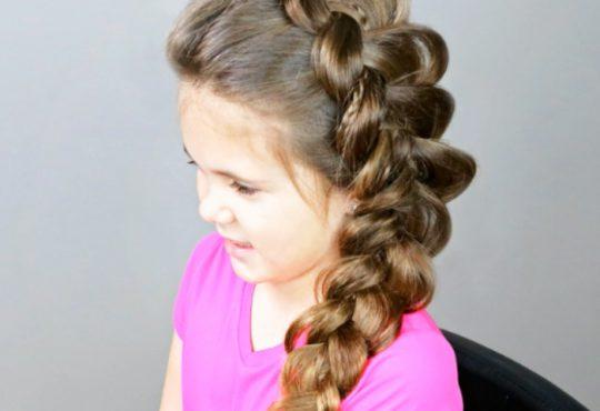 فیلم آموزش بافت موی دخترانه مجلسی