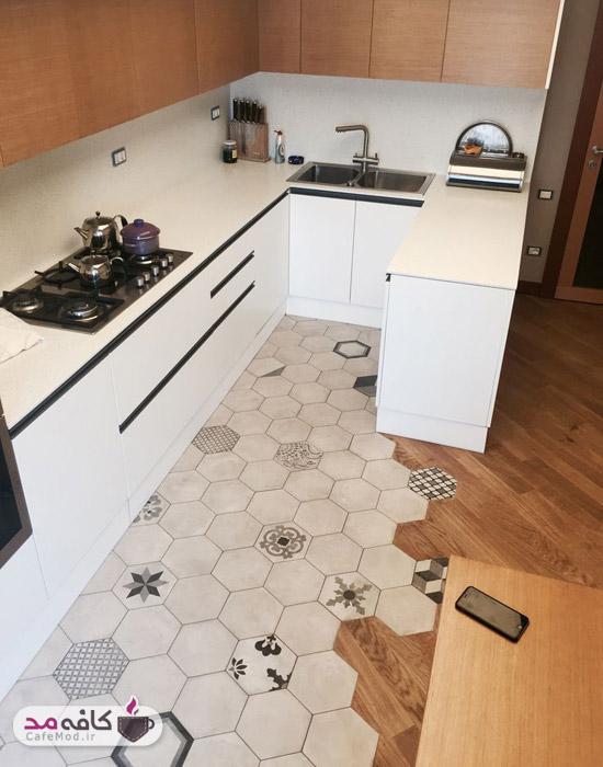 کفپوش های طرح دار برای دکوراسیون آشپزخانه