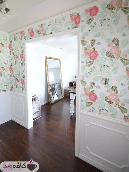کاغذ دیواری های گلدار