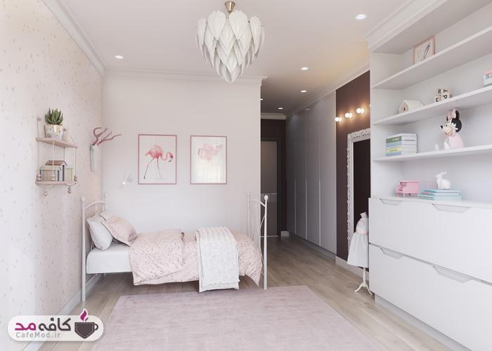 دکوراسیون اتاق خواب به رنگ صورتی
