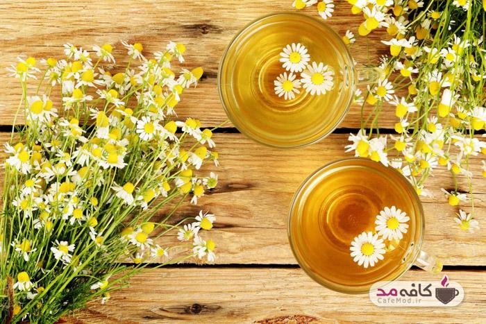 چای بابونه برای روشن کردن مو