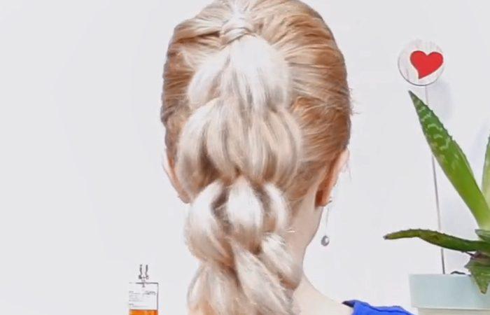 فیلم آموزش بافت موی بلند دخترانه زیبا