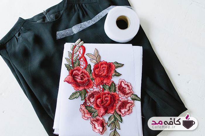 آموزش تزیین لباس با تکه های گلدوزی