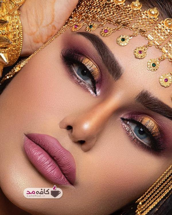 مدل آرایش مجلسی زنانه