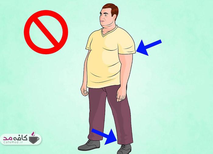 لباس مناسب آقایان چاق
