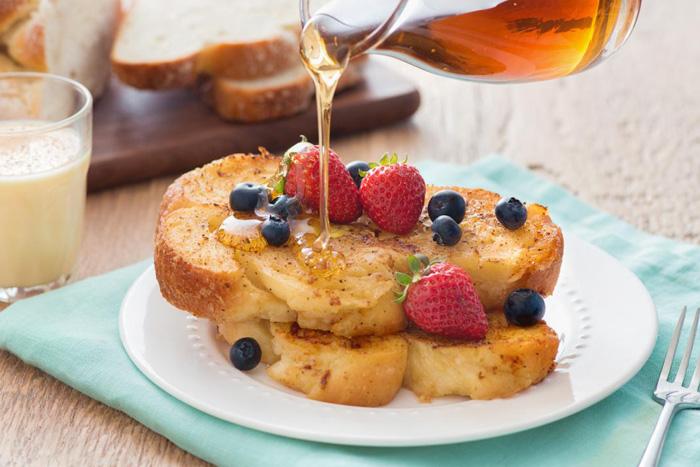 نان تست فرانسوی برای صبحانه