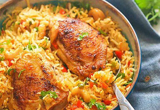 طرز تهیه بریانی مرغ و سبزیجات هندی