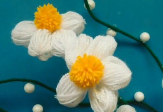 فیلم آموزش گلهای کاموایی