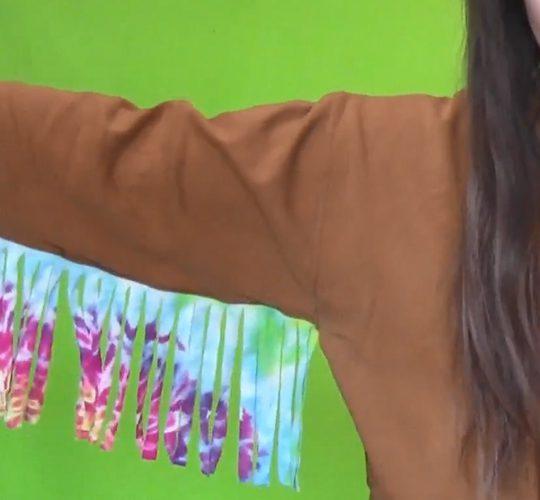 فیلم آموزش حاشیه دار کردن آستین لباس