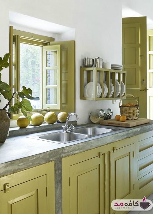 آشپزخانه با رنگ سبز
