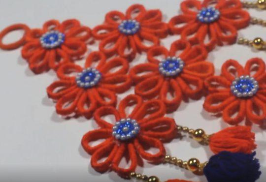 فیلم آموزش ساخت آویز دیوار گل گلی