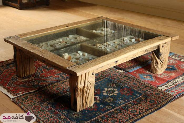 ایده های جذاب برای تزیین زیر میز شیشه ای