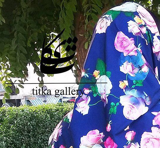روسری های دست دوز برند ایرانی تیتکا