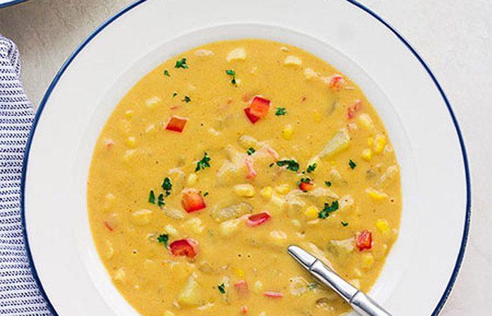 طرز تهیه سوپ ذرت غلیظ