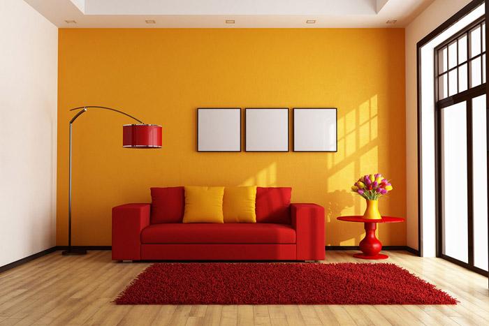 افزودن رنگ زرد در دکوراسیون