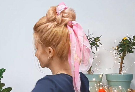 فیلم آموزش بافت مو با روسری
