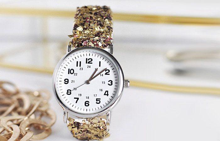 آموزش ساعت با بند زرق و برقی