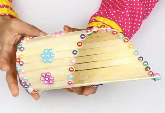 فیلم آموزش ساخت گلدان با چوب بستنی