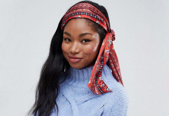 مدل بستن مو با روسری