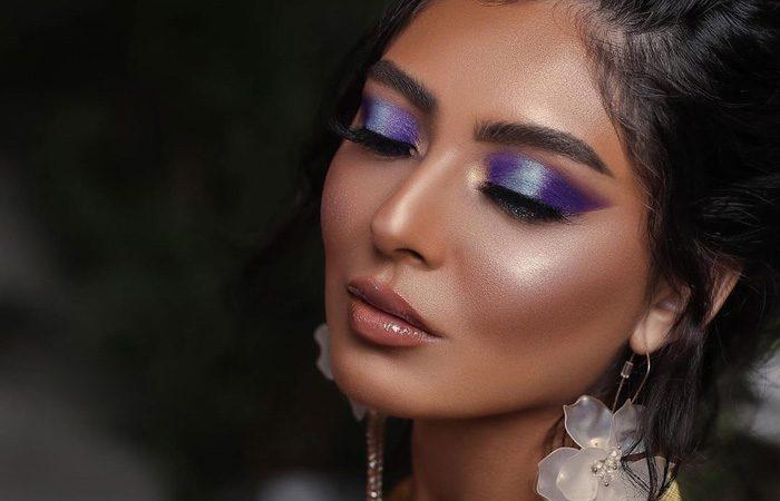 مدل آرایش با رنگ های زیبا